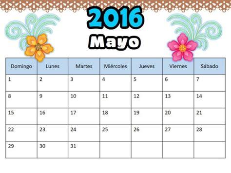 calendario para imprimir 2016 mes por mes im 225 genes de calendarios mes de mayo 2016 para imprimir