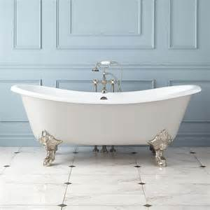 claw foot bathtub 72 quot lena cast iron clawfoot tub monarch imperial feet
