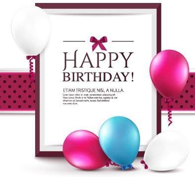 happy birthday tarpaulin design free download elegant happy birthday balloon background vector free