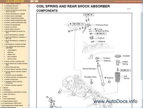 how to download repair manuals 2000 lexus lx spare parts catalogs lexus lx470 uzj100