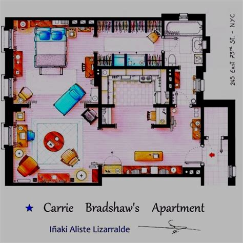 carrie bradshaw apartment floor plan 51 best architectural drawings images on pinterest