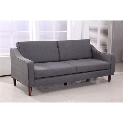 homcom three seat sofa cushion chair home furniture