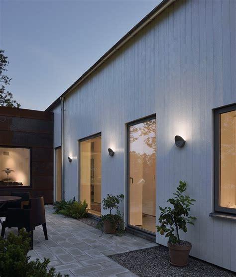 glare led grey exterior wall light