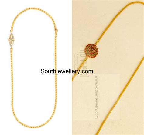 chain designs with thali chain models with mugappu jewellery designs