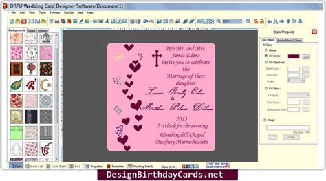 software for wedding invitation cards wedding invitation card software free