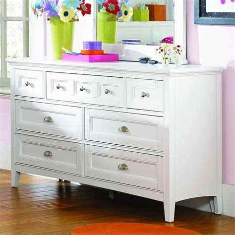 Dresser White by Magnussen Kenley 7 Drawer Dresser In White Finish Y1875 20
