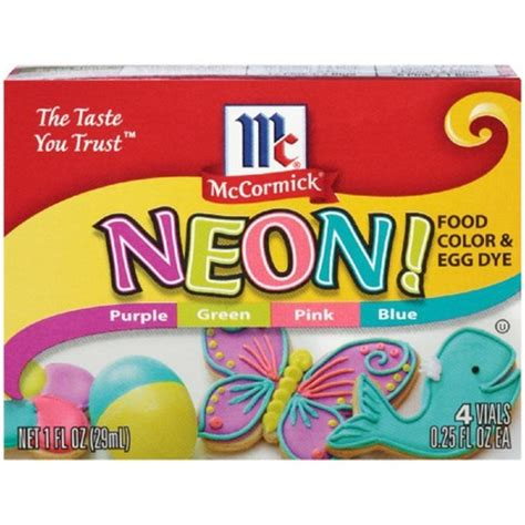 neon food coloring mccormick assorted neon food coloring kit 4 25oz 1oz