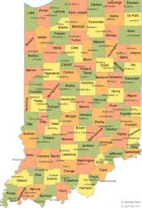 counties in map with cities indiana county map