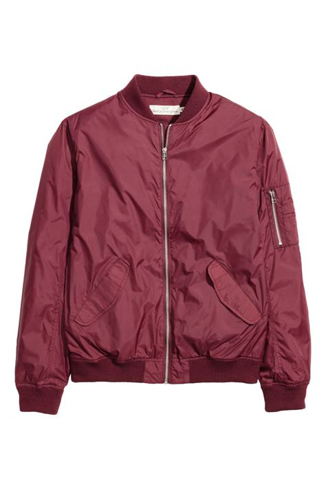 Jaket Jacket Murah King Maroon bomber jacket burgundy sale h m us