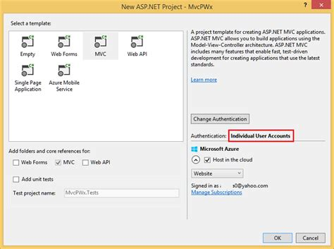 resetting unique id ms project create a secure asp net mvc 5 web app with log in email