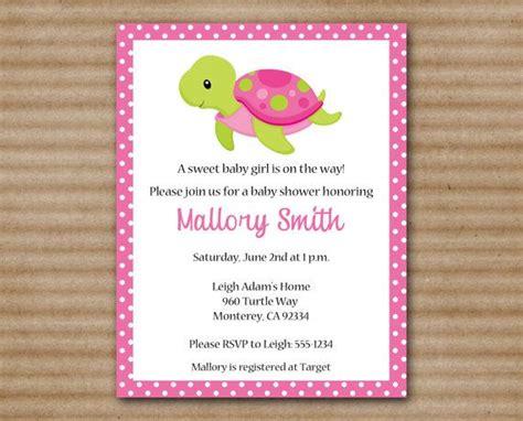 Sea Turtle Baby Shower Invitations by Sea Turtle Baby Shower Invitation Sea Turtle Invitation