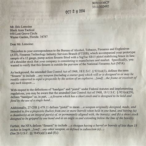 Nfa Letter Requirement barreled shotgun no nfa or aow gunsamerica digest