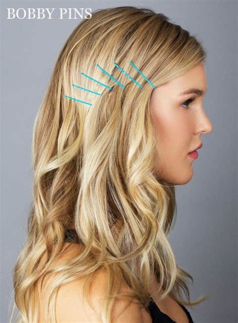 hairstyle ideas using bobby pins 15 gorgeous bobby pin hairstyles that you can easily do in