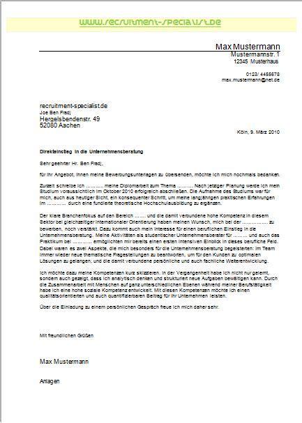 Bewerbungsanschreiben Ferienjob Daimler Recspec De