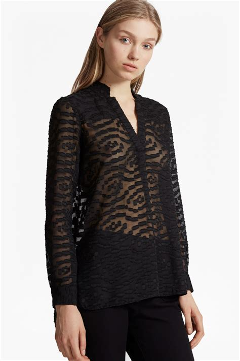 Sheer Top ruby sheer textured shirt collections connection