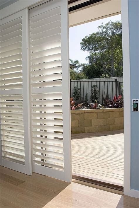 Patio Door Covering Shutters For Covering Sliding Glass Doors I Like This So Much Better Than Vertical Blinds