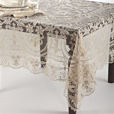 Handmade Tablecloth - handmade venice lace tablecloth 72 inch x 108