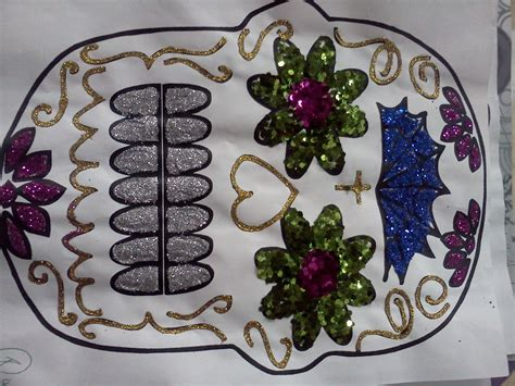 imagenes de calaveras decoradas con diamantina artes visuales moises saenz calaveras decoradas con