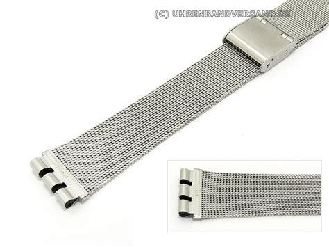 Watch band stainless steel for Swatch 17mm mesh elegant from Piero Magli