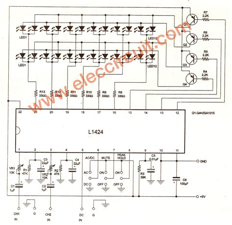 Ic Lb1403 led vu meter schematic led vu meter 5leds ch1403 or lb1403 ic circuit ideas i projects i