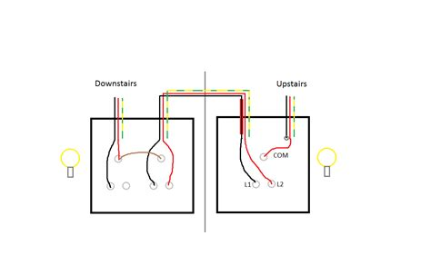 3 two way switch wiring diagram circuit and