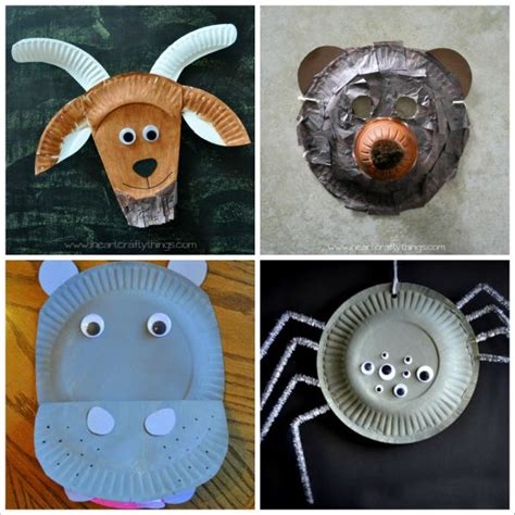 How To Make Animal Mask With Paper Plate - 20 paper plate animal crafts for i crafty things