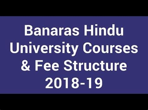 Bhu Mba Fees by Banaras Hindu Courses Courses In Bhu After