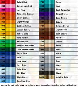 embroidex color chart floriani thread color chart car interior design
