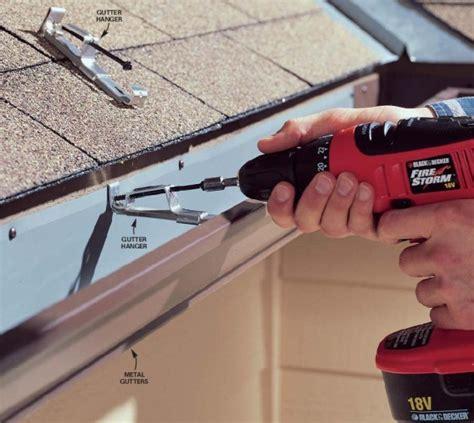 how to install gutters 12 steps ehow gutter repair carmel gutter installation 46032 the