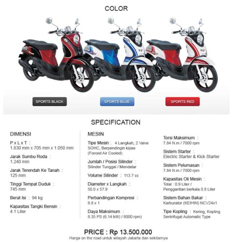 Striping Fino Fhasion prices and specifications yamaha mio fino edy oto speed