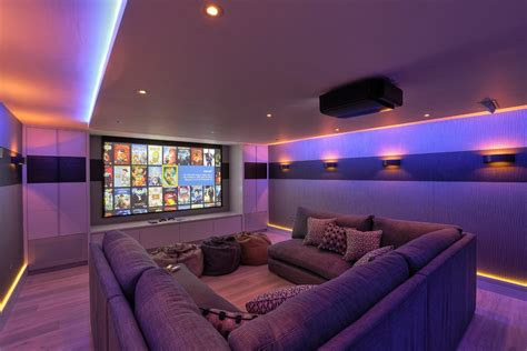 big comfy couch home theater contemporary  cinema room