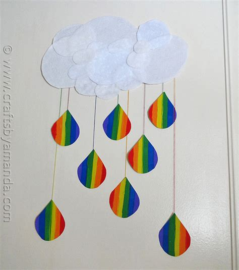 Construction Paper Crafts For Adults - rainbow crafts cloud and rainbow raindrops crafts by amanda