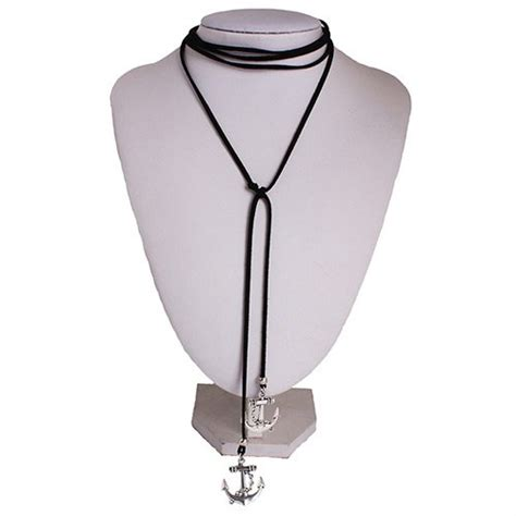 Kalung Black Multilayer Simple Design White Pearl jual beli kalung black multilayer simple design silver