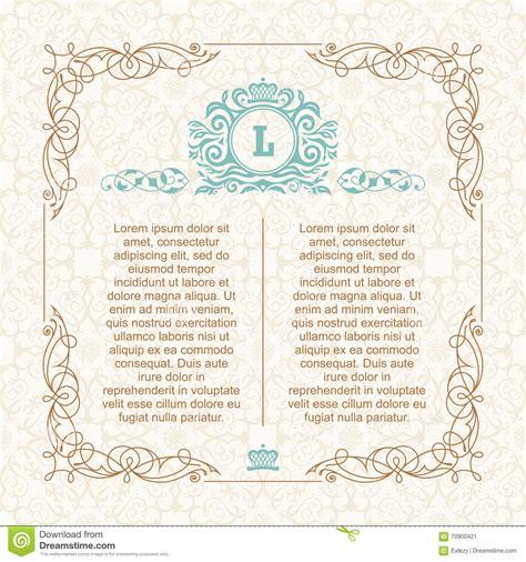 design frame wedding card border calligraphic border frame design template for wedding