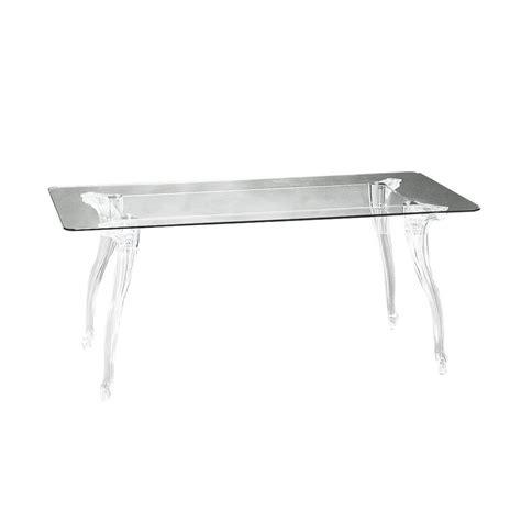 tavoli policarbonato tavolo con piano in vetro trasparente e gambe in