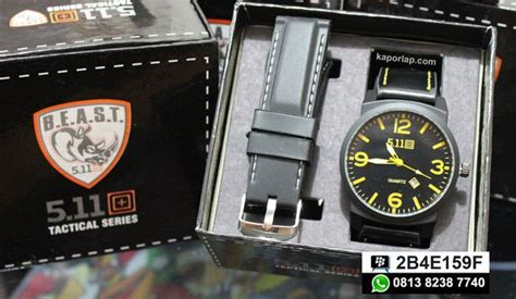 Jam Tangan Cowo 5 11 Beast Brown jam tangan jo kaporlap