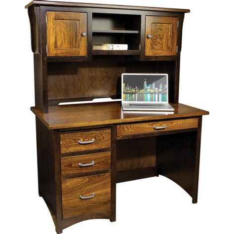 desks with hutch creekside student desk with hutch amish crafted furniture