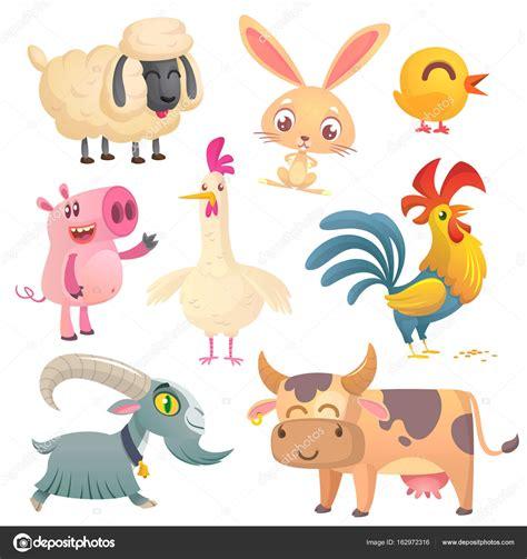 imagenes vectores de animales colecci 243 n de dibujos animados de animales de granja