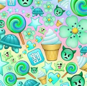 Emoji Edits Wallpaper | green blue emoji edit edits pinterest green and blue