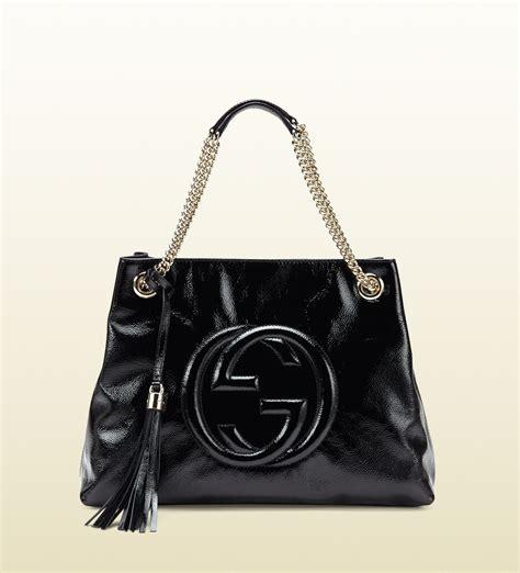 Garucci Shoulder Bag Abu Abu lyst gucci soho soft patent leather shoulder bag in black