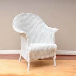 white rattan wicker chair ebth