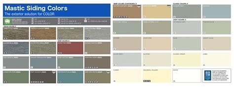 mastic siding color chart top siding contractors lincoln ne nelson
