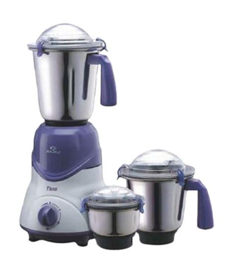 Bajaj Trio 600 W 3 Jar Mixer Grinder Price in India Buy