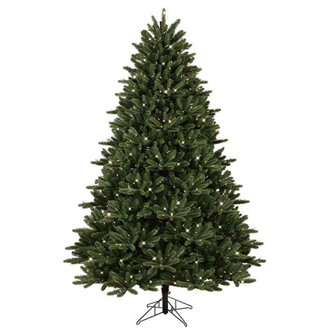 Ge 7 5 Ft Pre Lit Led Just Cut Frasier Fir Artificial Lighted Trees Artificial