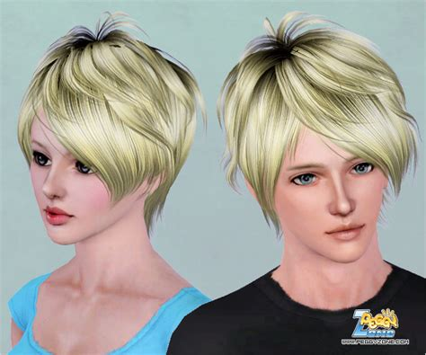 haircuts zone messy haircut id 461 by peggy zone sims 3 hairs