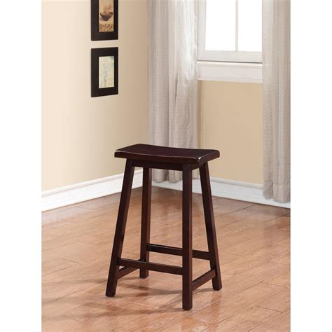 Brown Saddle Bar Stools by Linon Home Decor Saddle 24 In Brown Bar Stool