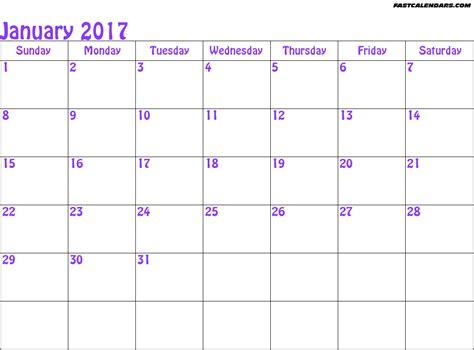 jan 2017 calendar printable calendar template