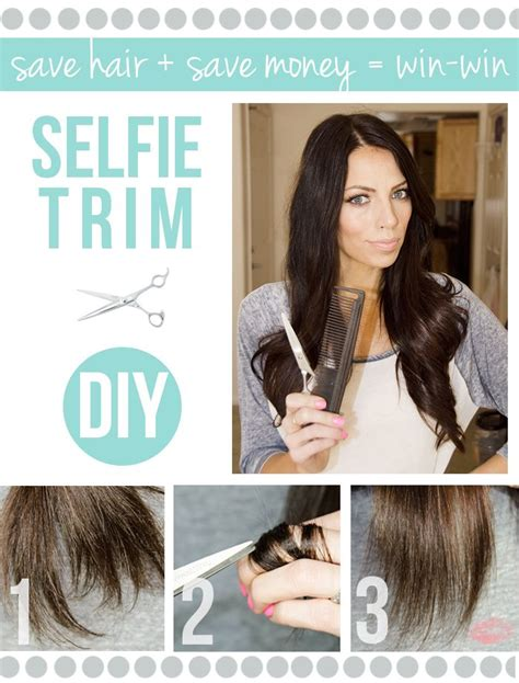 how to trim your own hair