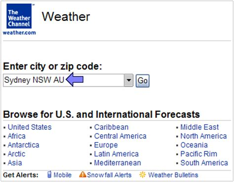Search By Location Help Location Id Simple Weather Applet