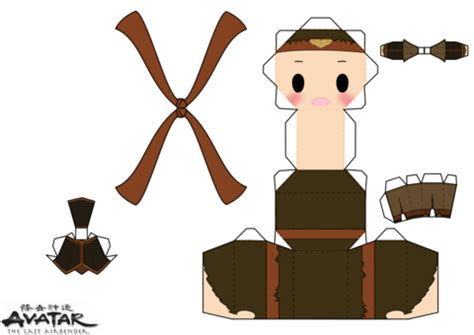 Avatar Papercraft - nation aang chibi doll free printable papercraft